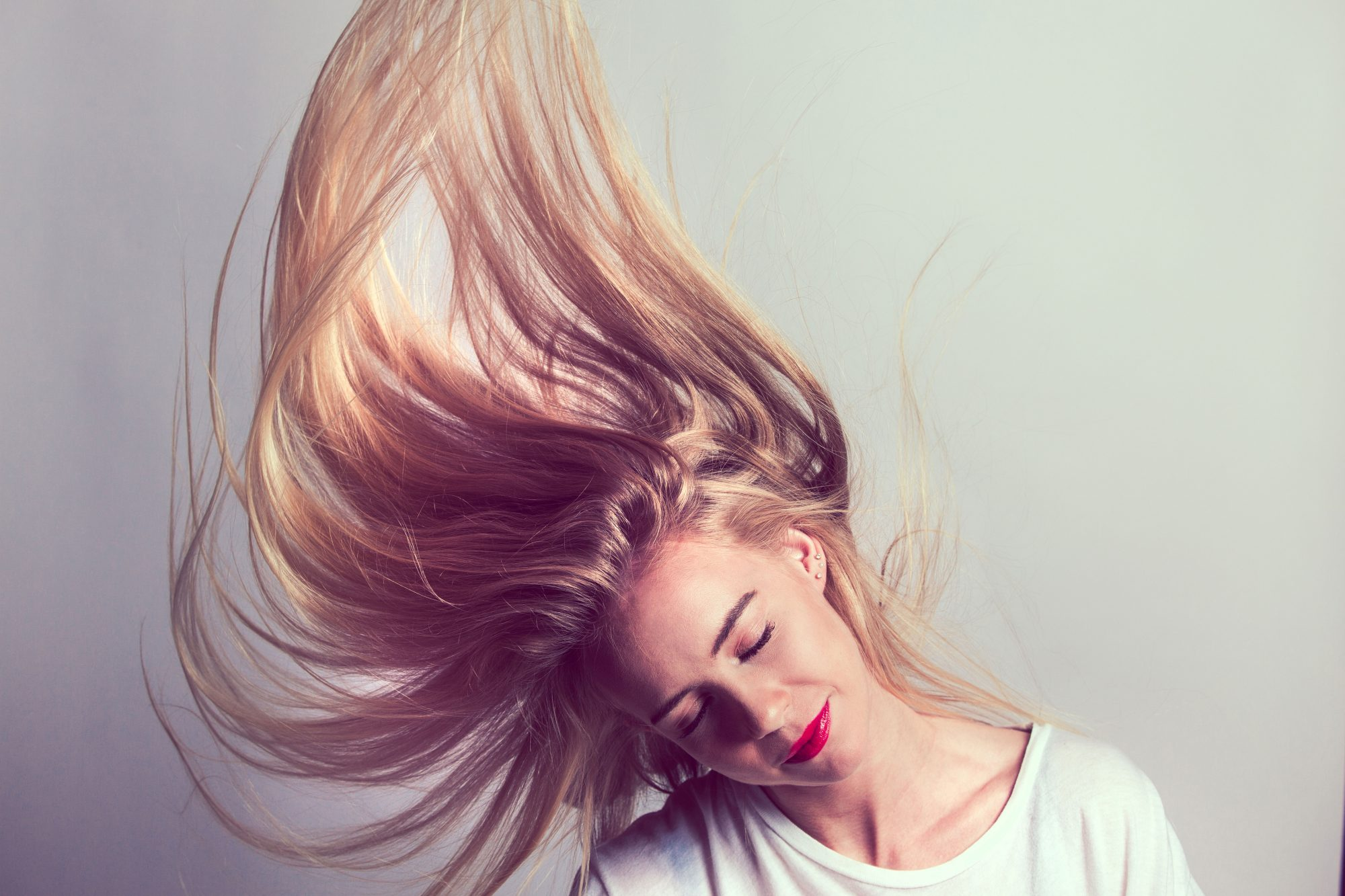 Woman with Smooth Blonde Hair