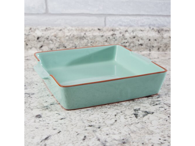 Mint Green Square Non-Stick Baking Dish