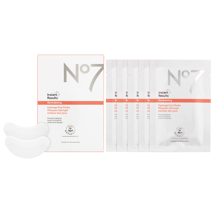No7 Instant Results Revitalising Hydrogel Eye Masks