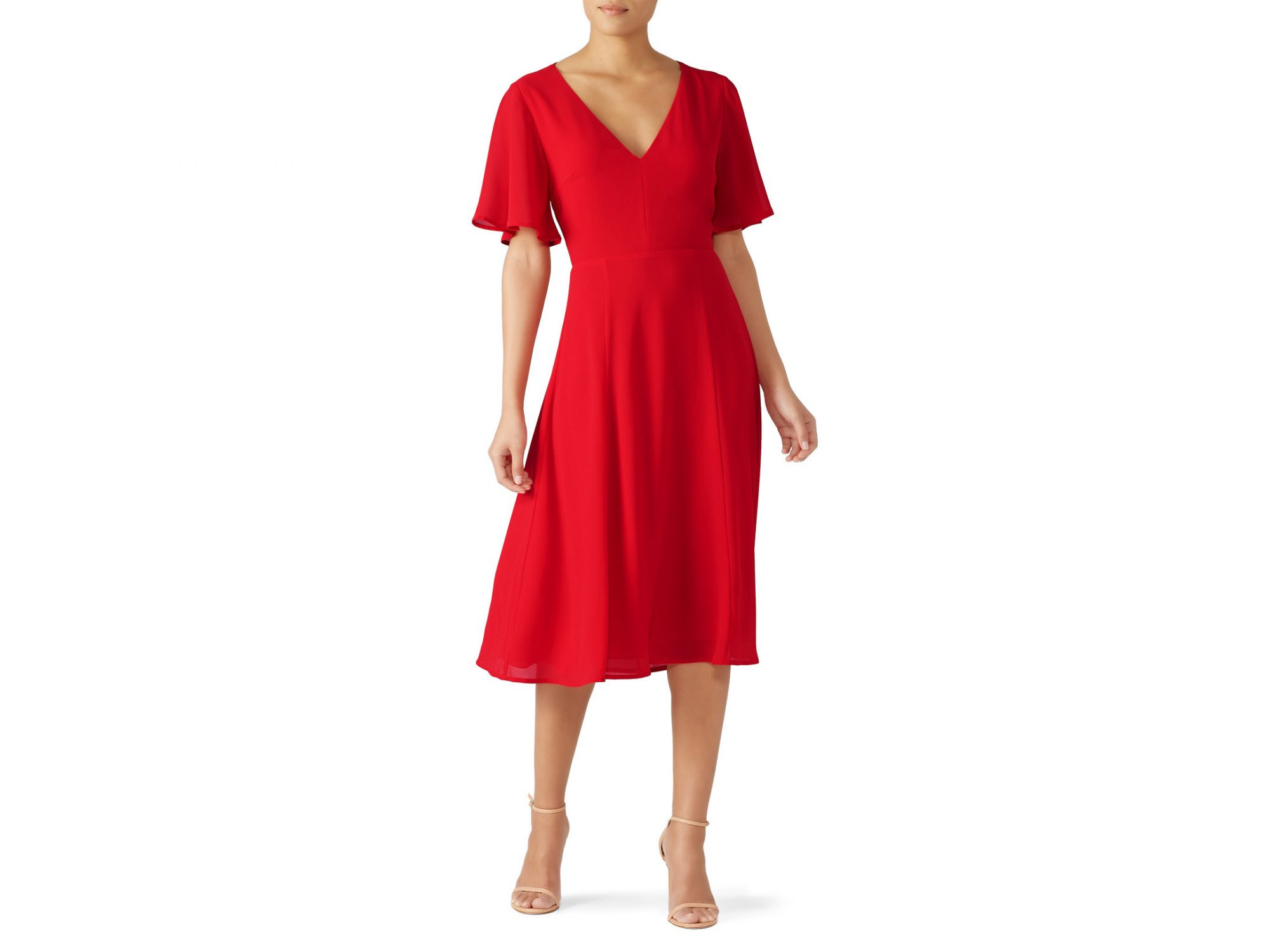 Louna Red Tie Back Dress