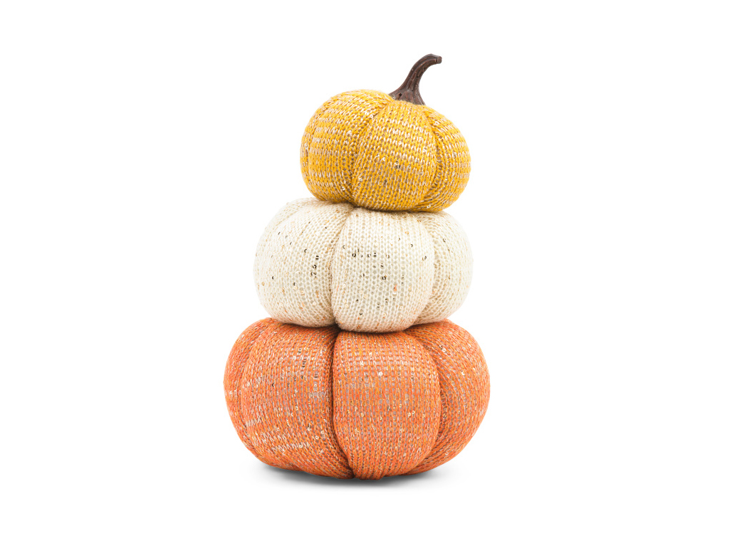 Stack of Fabric Pumpkins