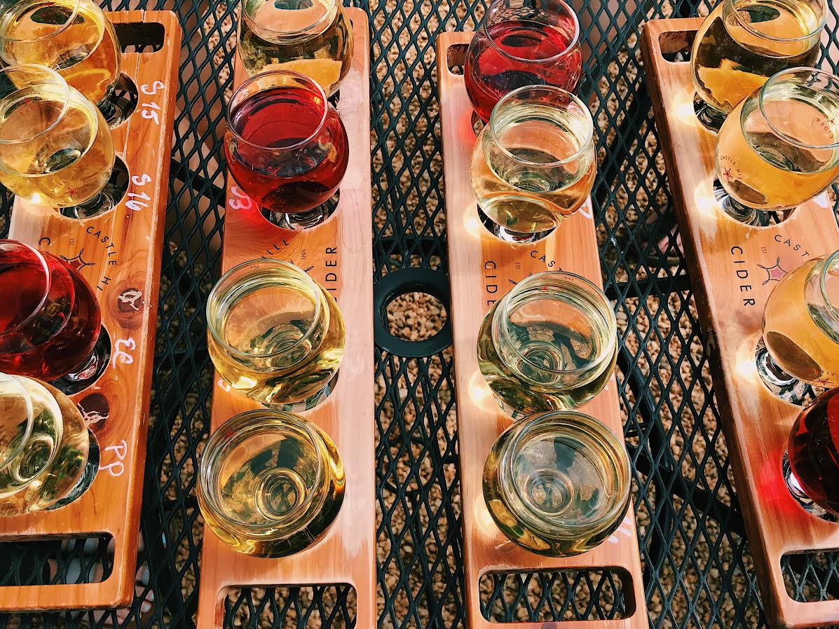 Cider Flights at Castle Hill Cider
