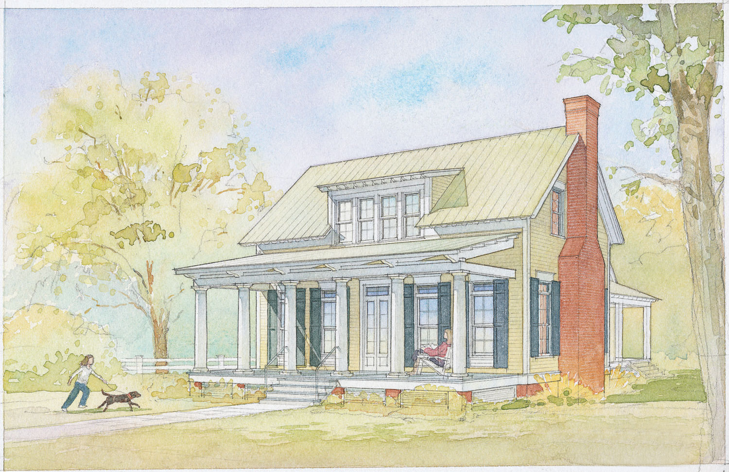 Lowcountry Cottage, Plan #1121