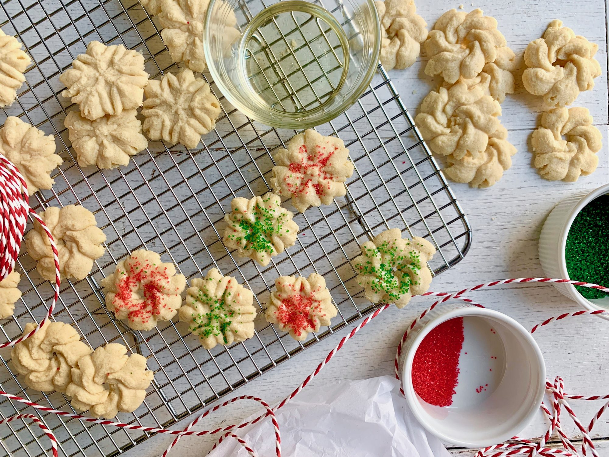 Recipe: Spritz Cookies                             Grab your cookie press and get moving on these classic holiday treats. Preparing the dough couldn't be easier, and once it's done you simply feed it through the press.