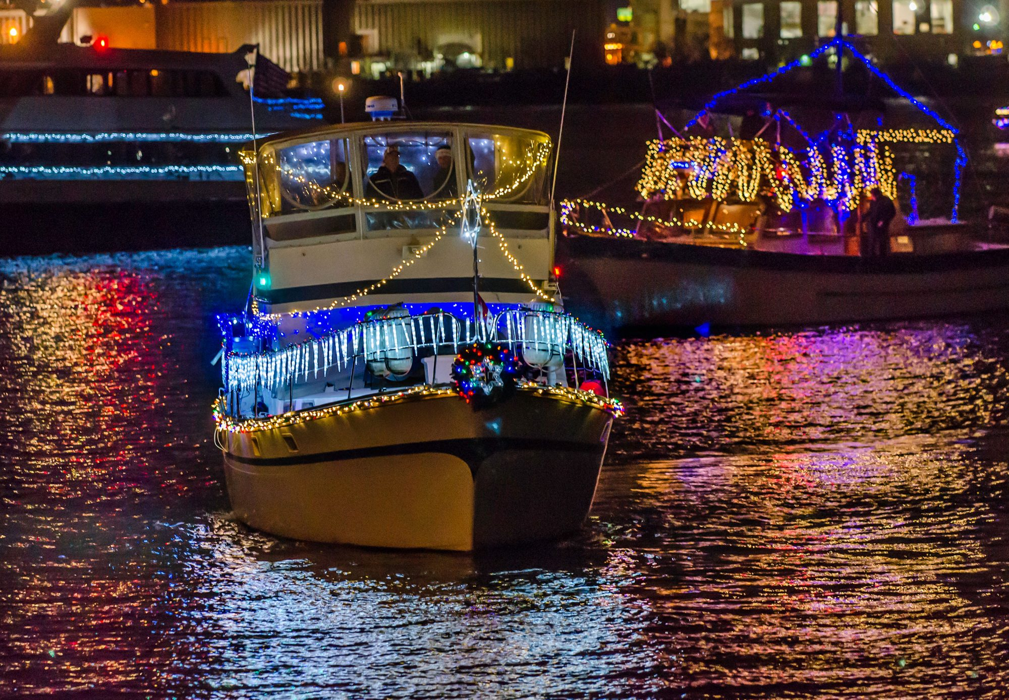 Christmas Lights + Boats = Hallmark Moment