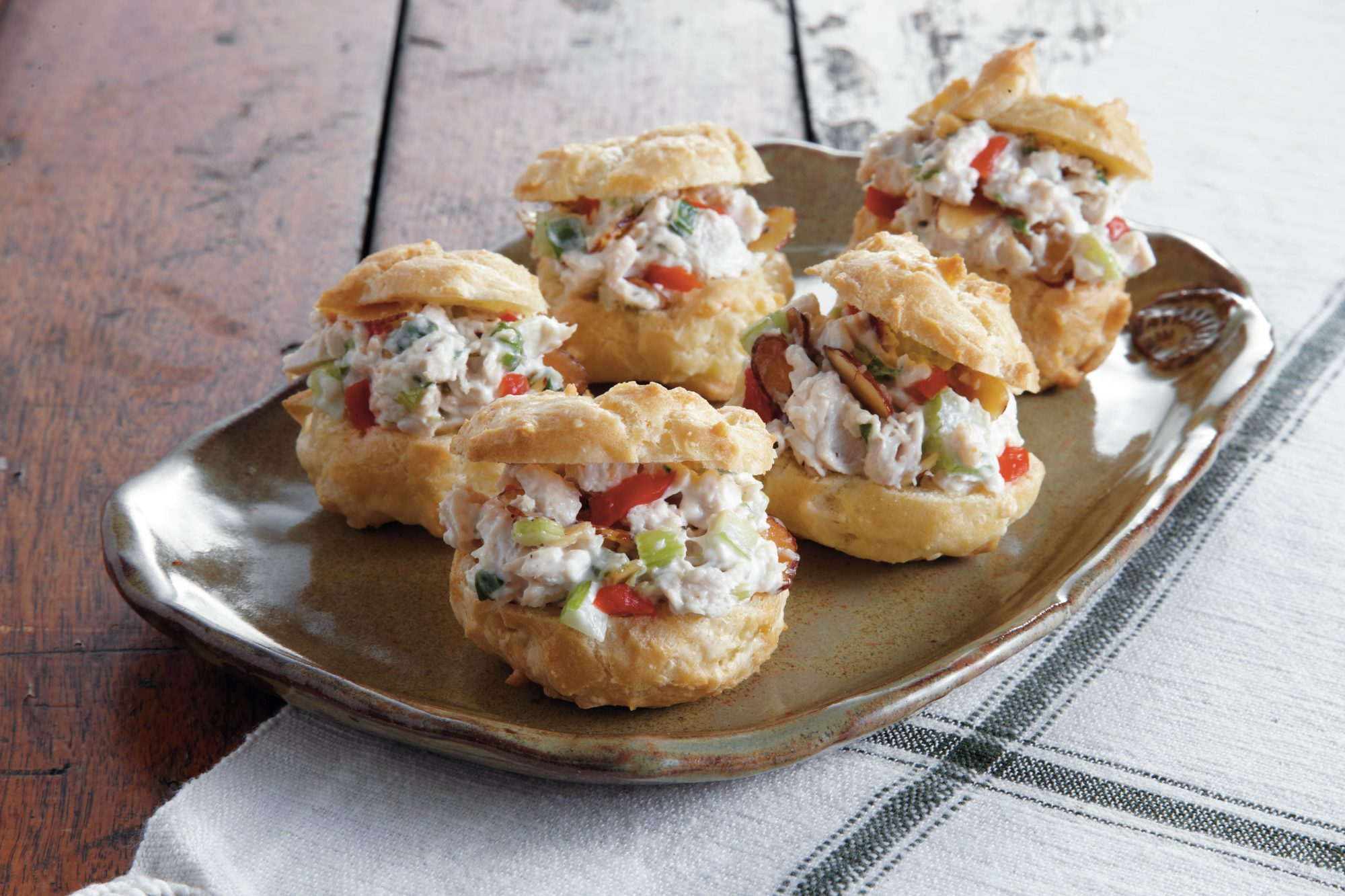 Chicken Salad Swiss Cheese Puffs Southern Living