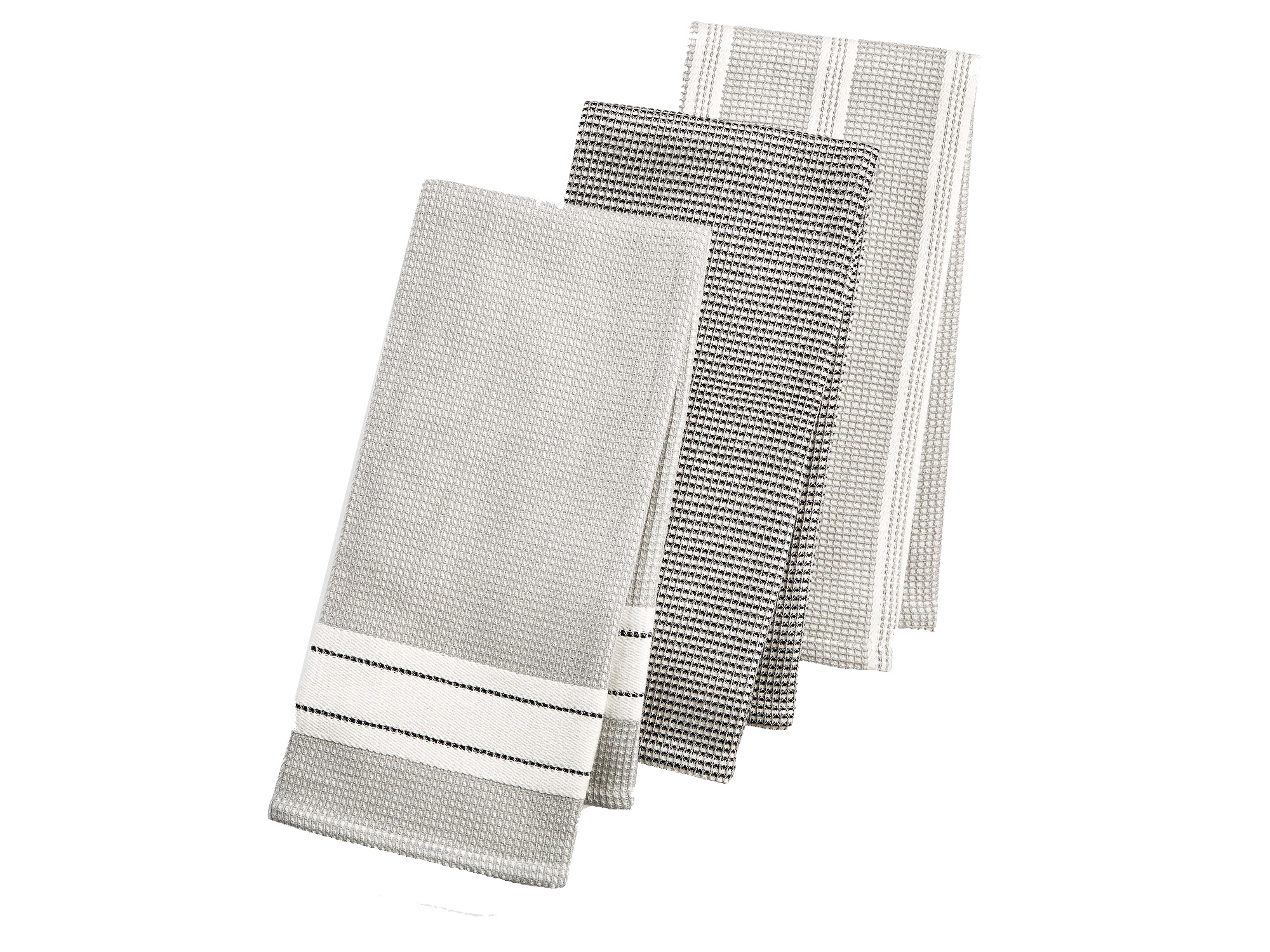 Martha Stewart Collection 3-Pc. Waffle Weave Kitchen Towels