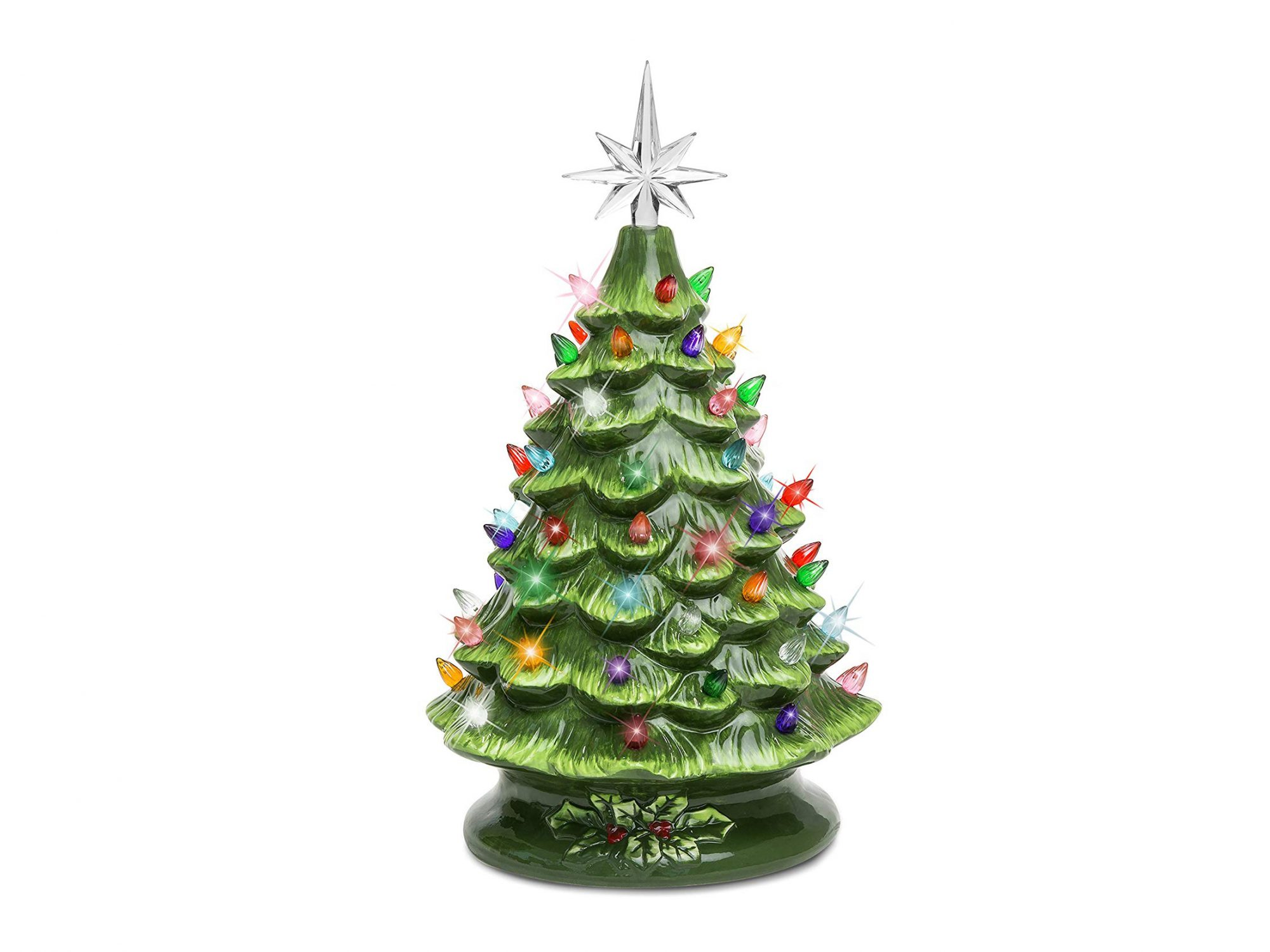 Best Choice Products 15in Ceramic Pre-Lit Christmas Tree