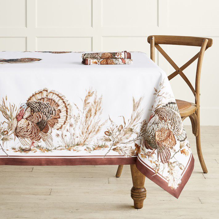 Autumn Plymouth Turkey Tablecloth