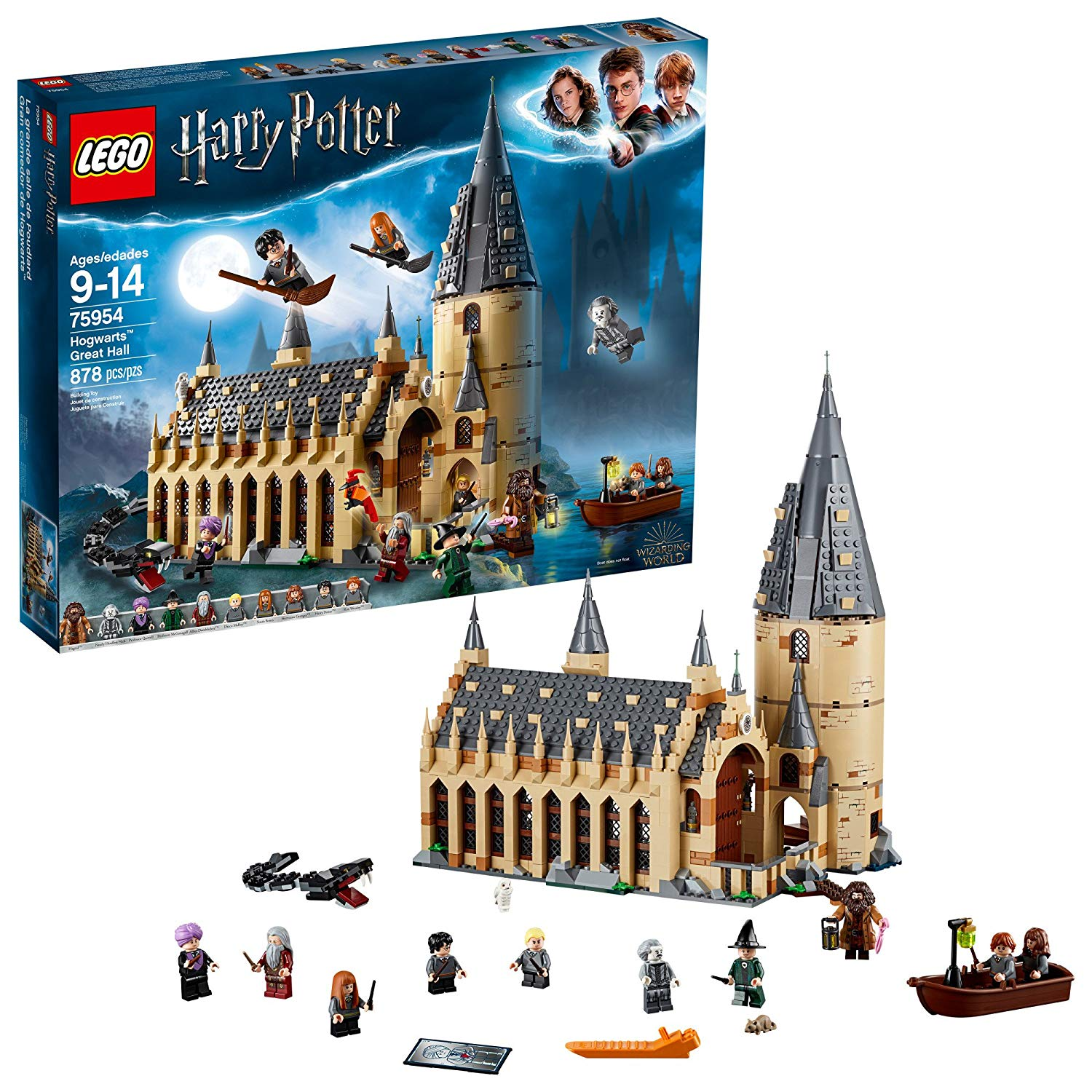 LEGO Harry Potter and The Goblet of Fire Hogwarts Clock Tower Building Kit