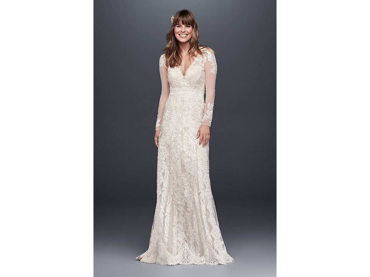 Melissa Sweet Linear Lace Wedding Dress
