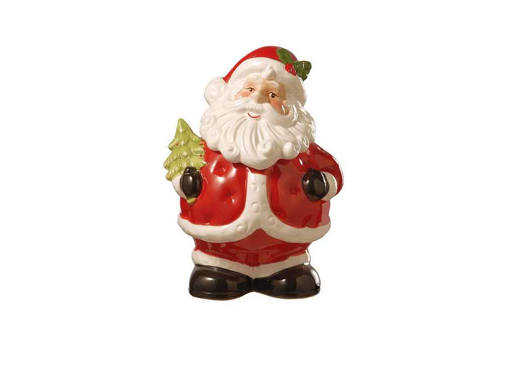 "National Tree Company 10"" Santa Cookie Jar"