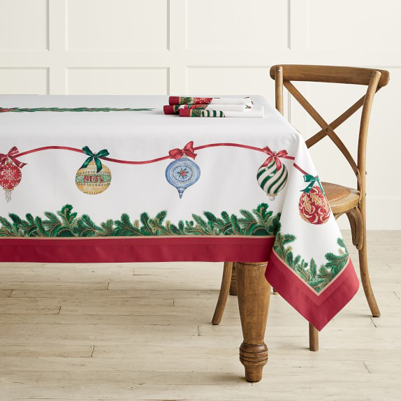 Twas the Night Ornaments Tablecloth