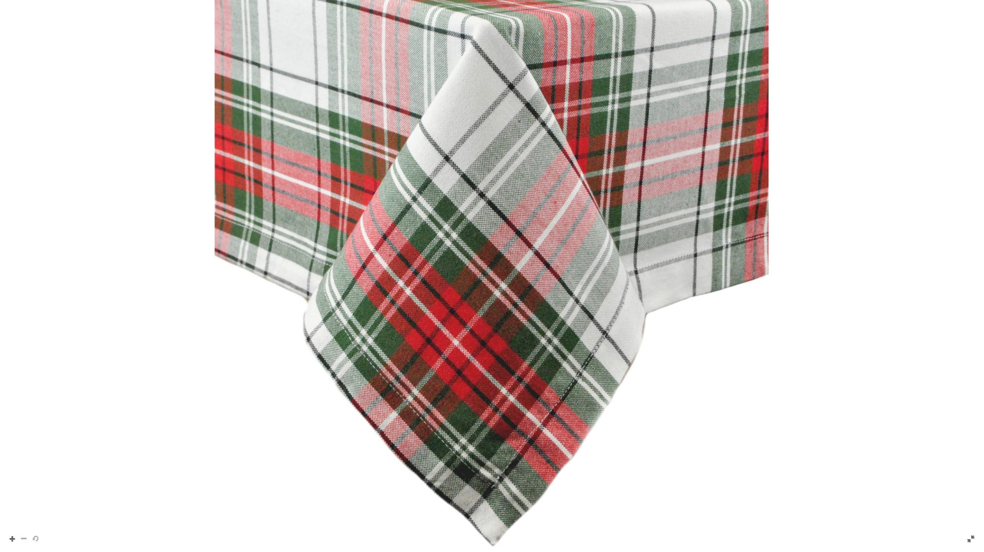 Plaid Christmas Tablecloth