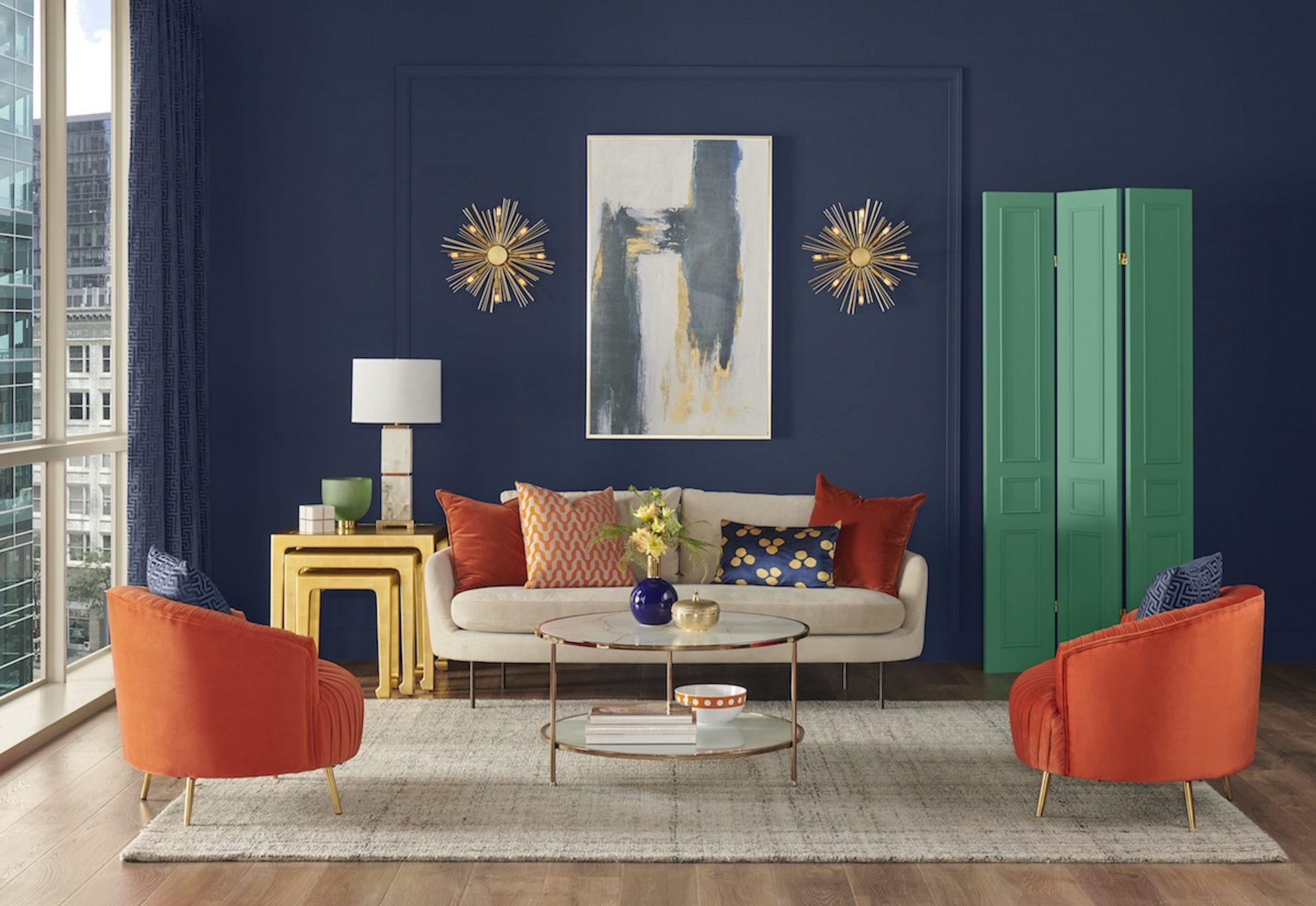 Sherwin Williams Color of the Year 2020 Living Room