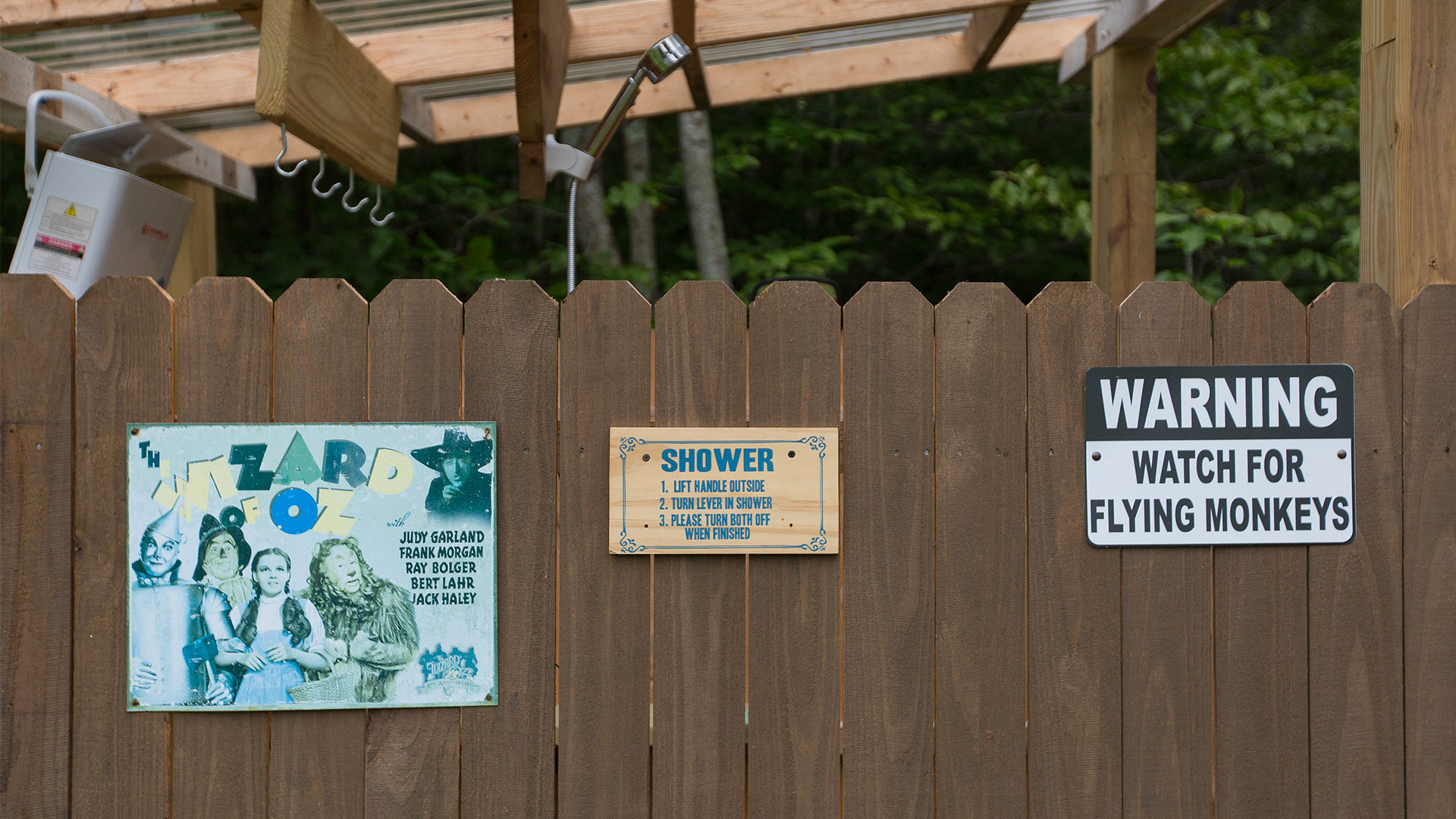 Wizard of Oz Tiny House Outdoor Shower