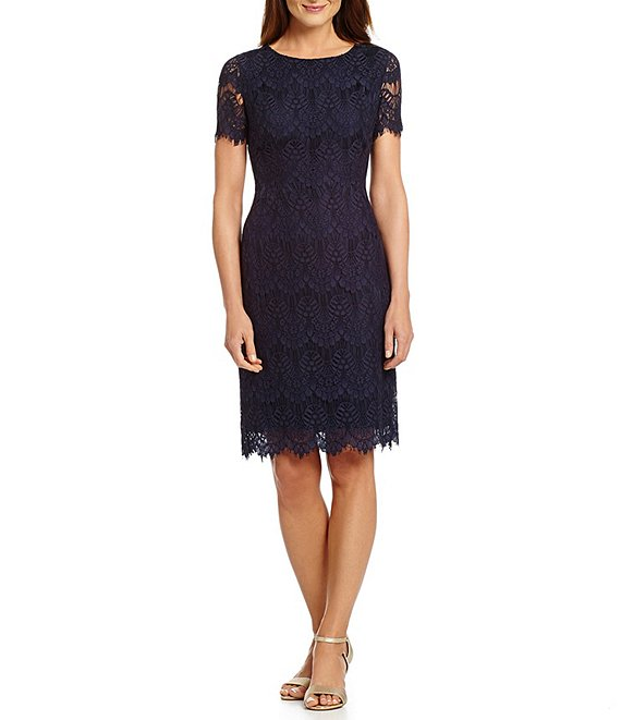 Felicia Short Sleeve Lace Sheath Dress
