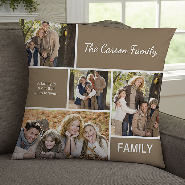 Custom Photo Christmas Trees Throw Pillow