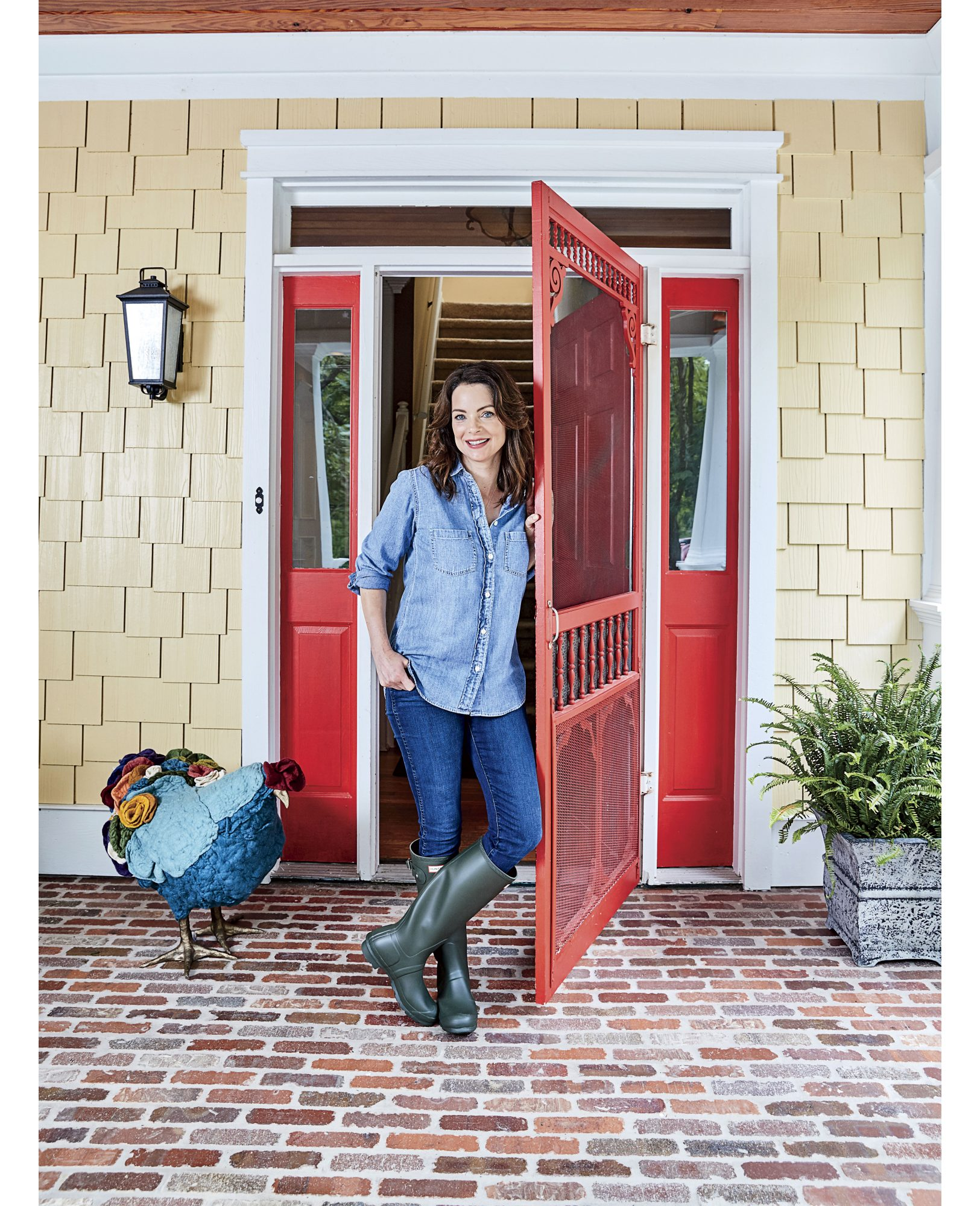 Kimberly Williams-Paisley on Front Porch