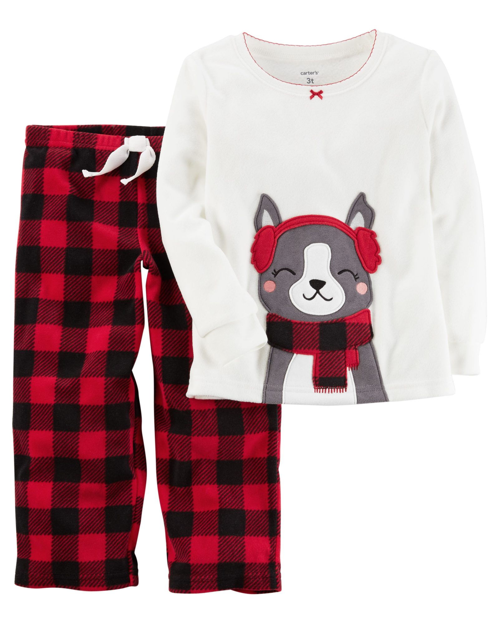 Cozy Fleece Girls' Christmas PJs