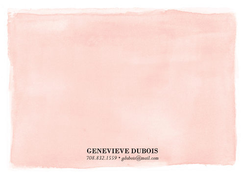 Watercolor Wash Personalized Stationery