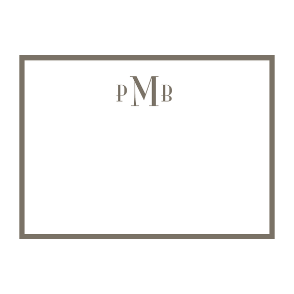 Monogram Border Stationery