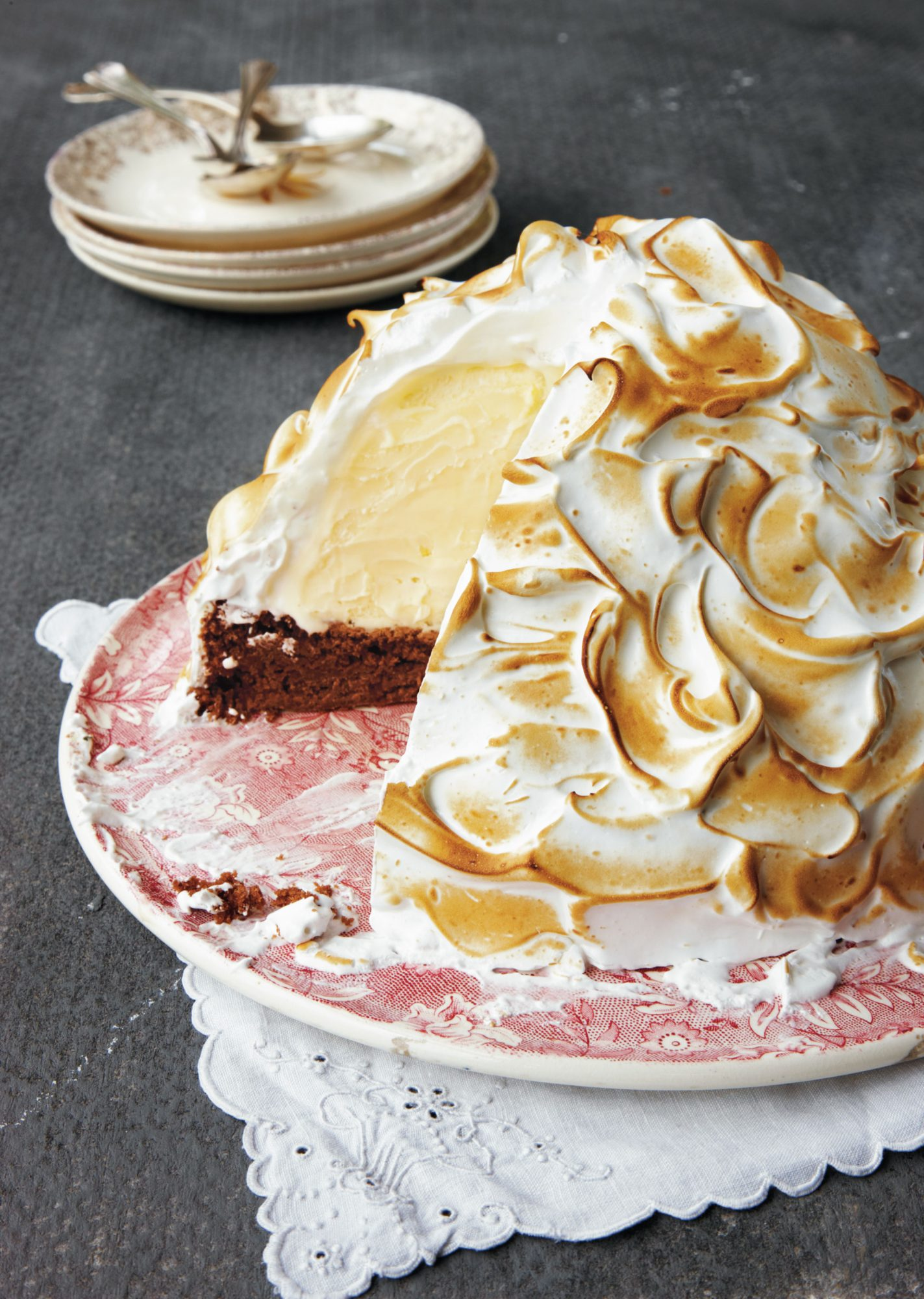 Brownie Baked Alaska