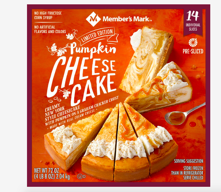 Member's Mark Pumpkin Cheesecake