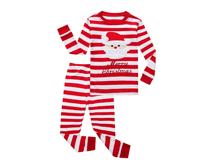 Red Stripe Christmas Pajamas