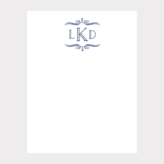 Vintage Marquis Monogram Stationery
