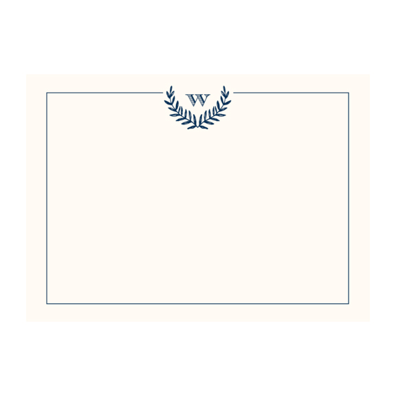 Monogram Laurel Stationery