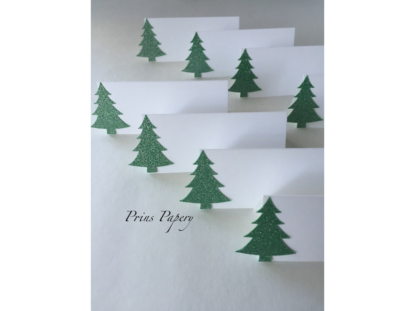 Paper Christmas Tree Place Cards
