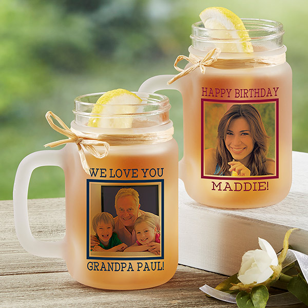 Personalized Frosted Mason Jar