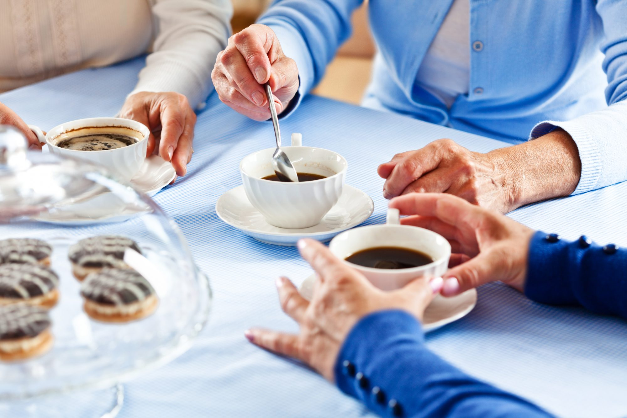 Why Every Good Hostess Has Decaf Coffee On Hand_Getty Image of Women Having Coffee