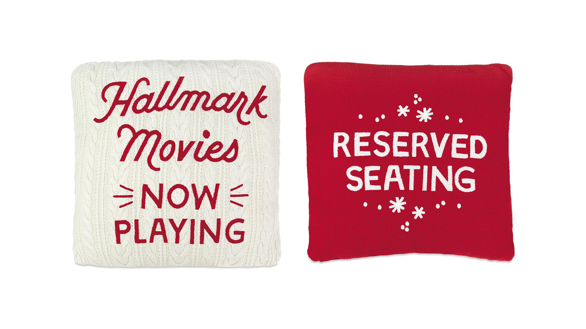 Hallmark Movies Two-Sided Throw Pillow