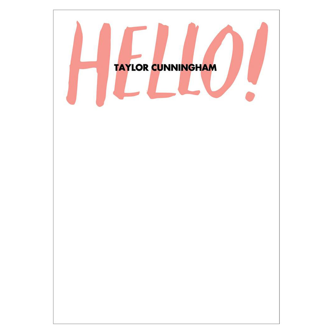 Hello Stationery
