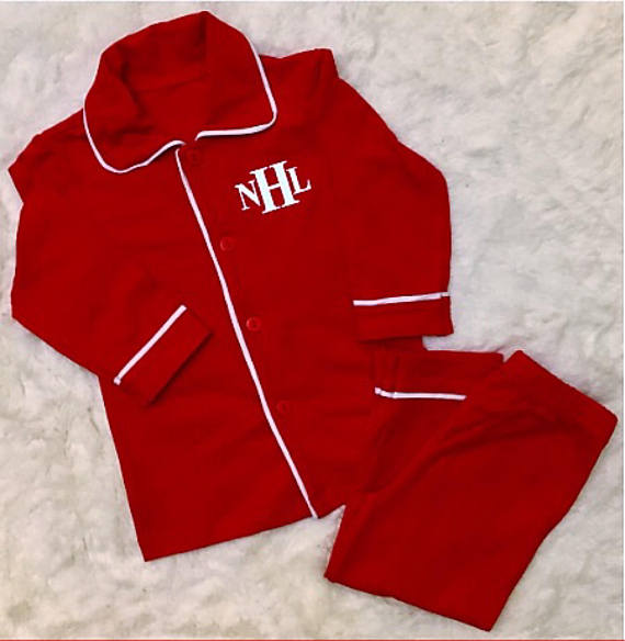Toddler Monogrammed Christmas Pajamas