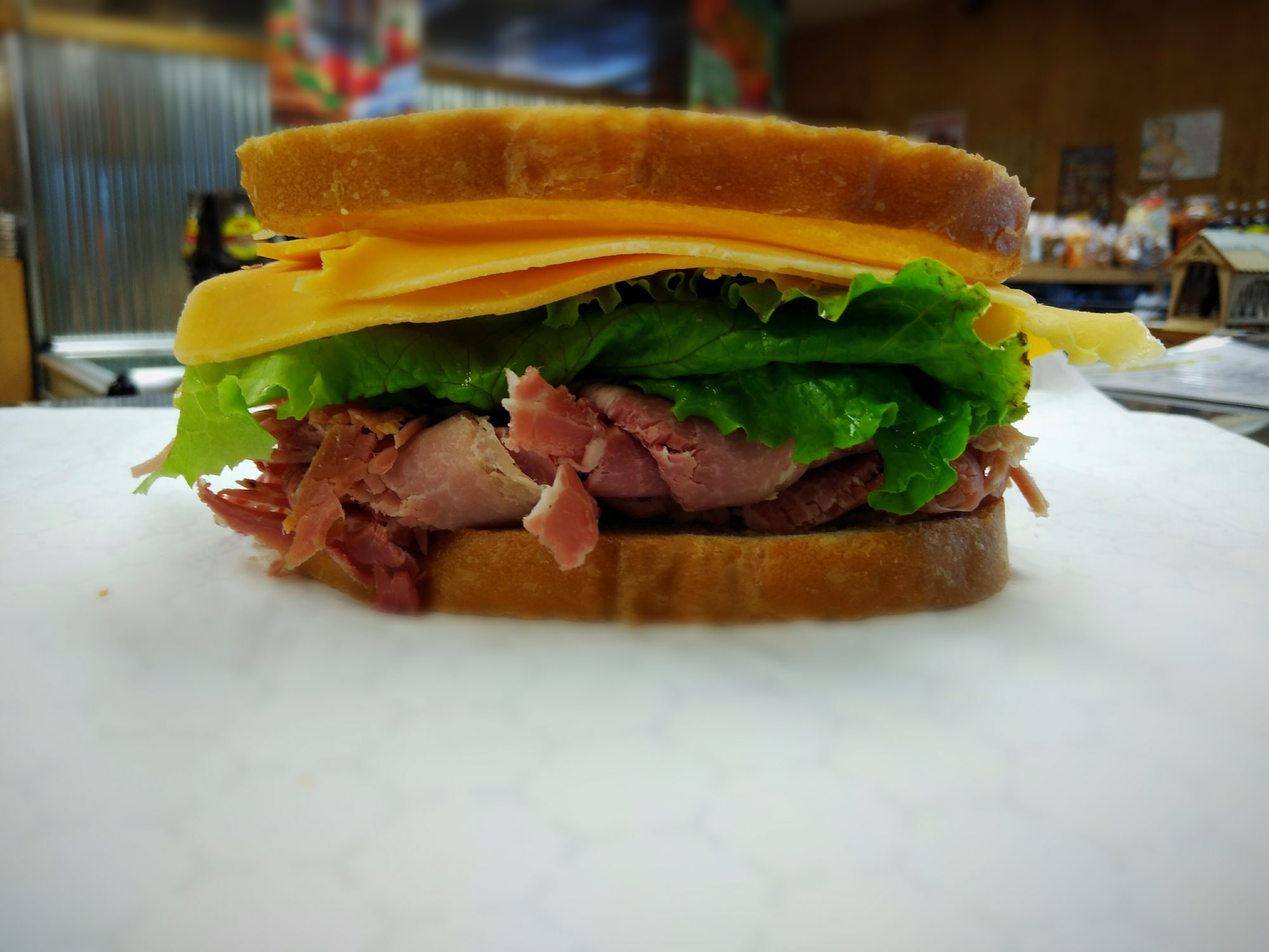 Layne's Country Store Country Ham Sandwich