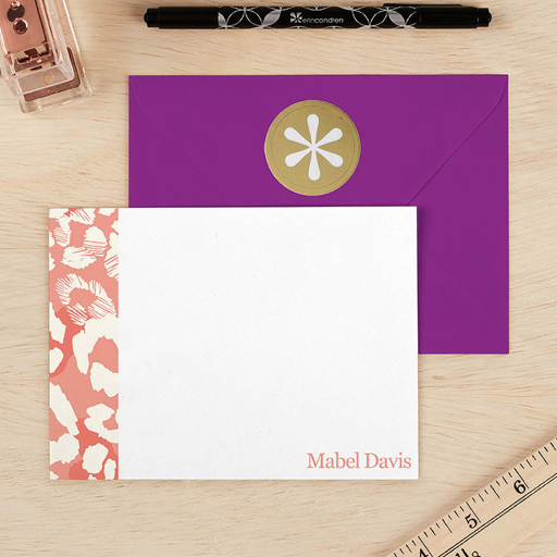 Leopard Stationery