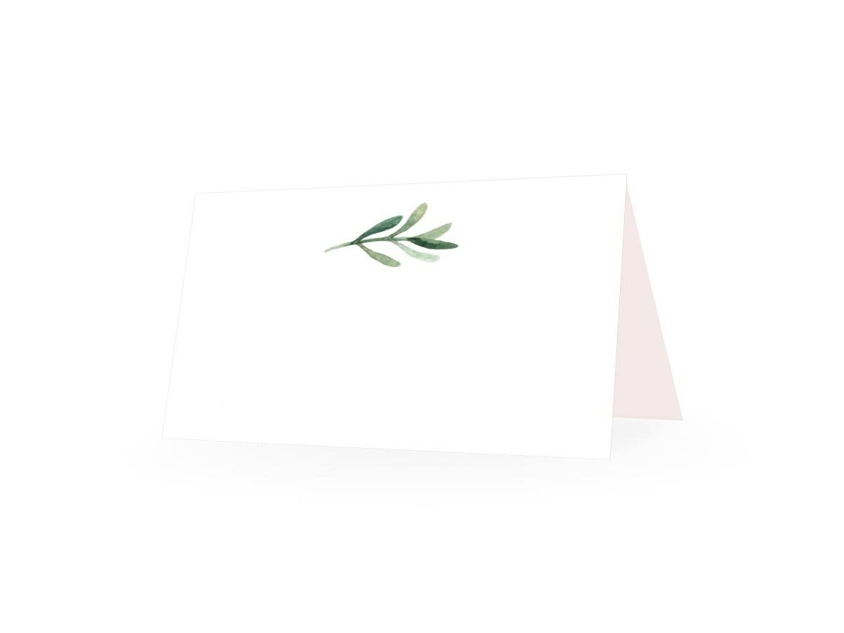 Elegant Greenery Place Cards