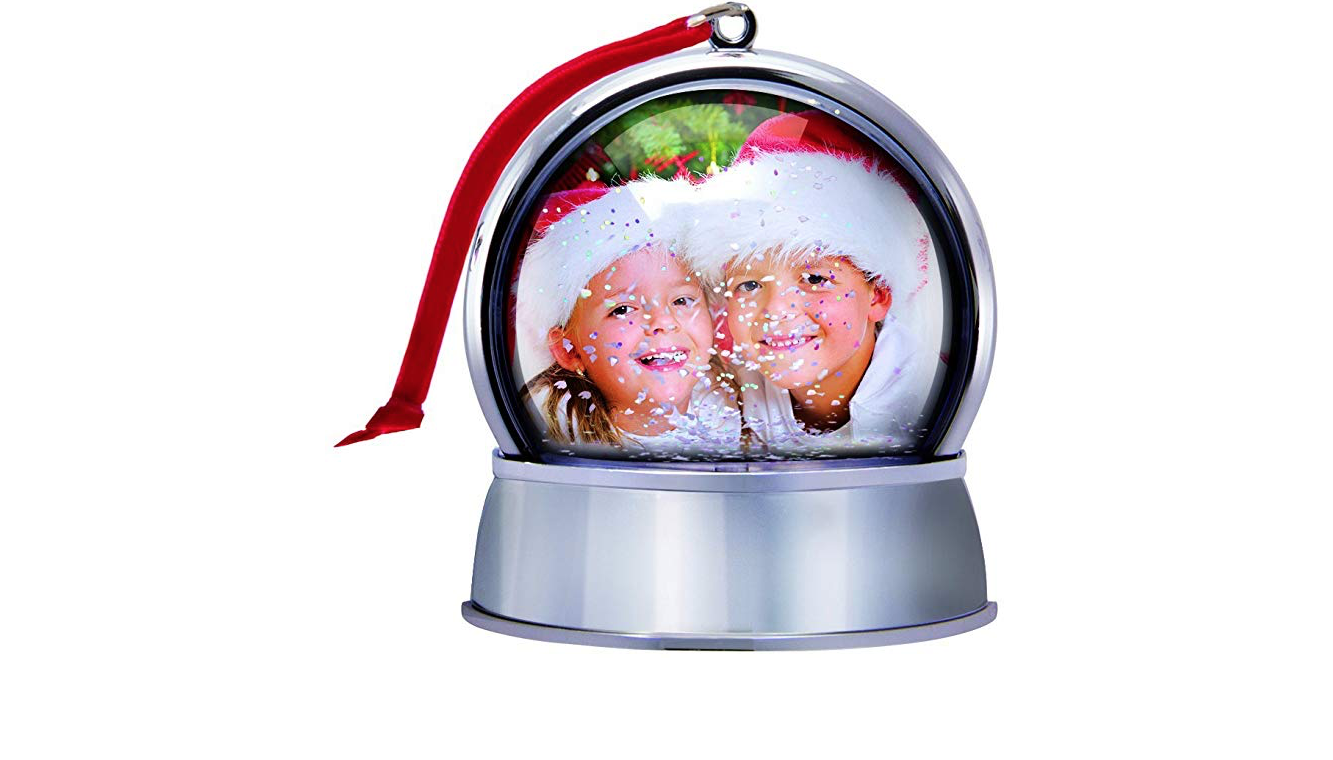 Photo Snow Globe Christmas Ornament