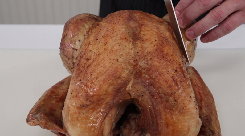 How to Carve a Turkey Step 1