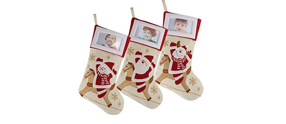 Creative Christmas Stockings with Photo Frame Holder