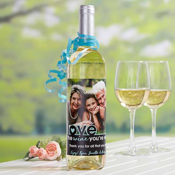 Photo Wine Bottle Label