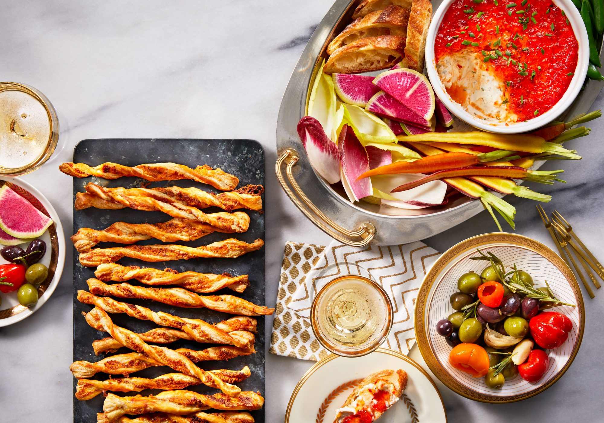 Baked Goat Cheese Spread with Pepper Jelly