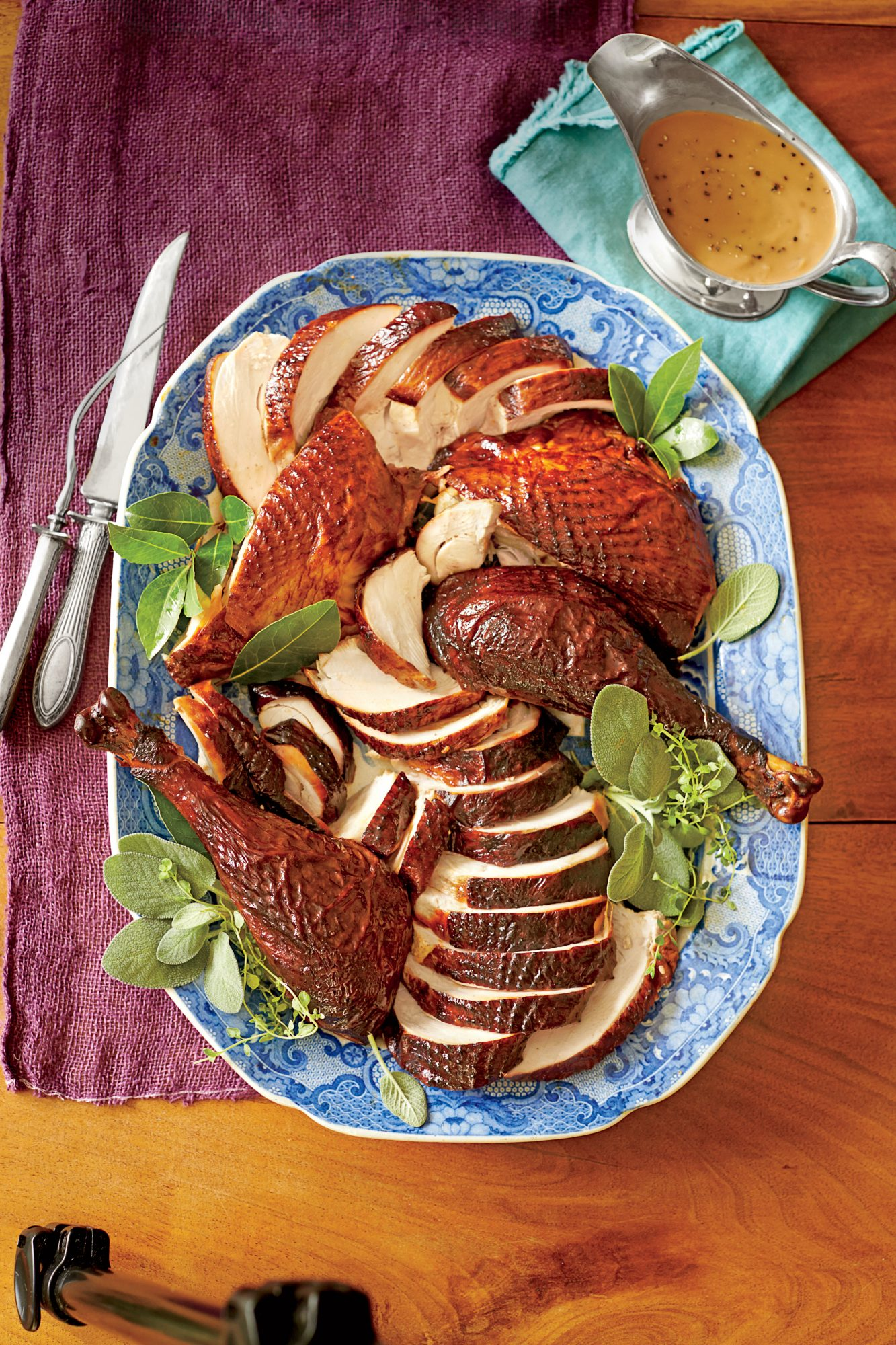 Smoked Turkey & Gravy; Photographer: Alison Miksch; Prop Stylist: Buffy Hargett-Miller; Food: Erin Merhar