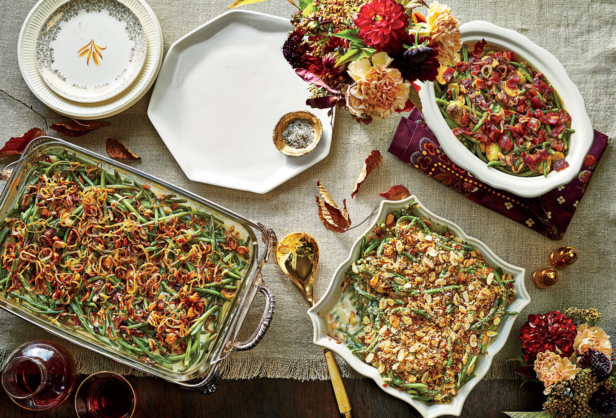 Bacon-Brussels Sprout-Green Bean Casserole