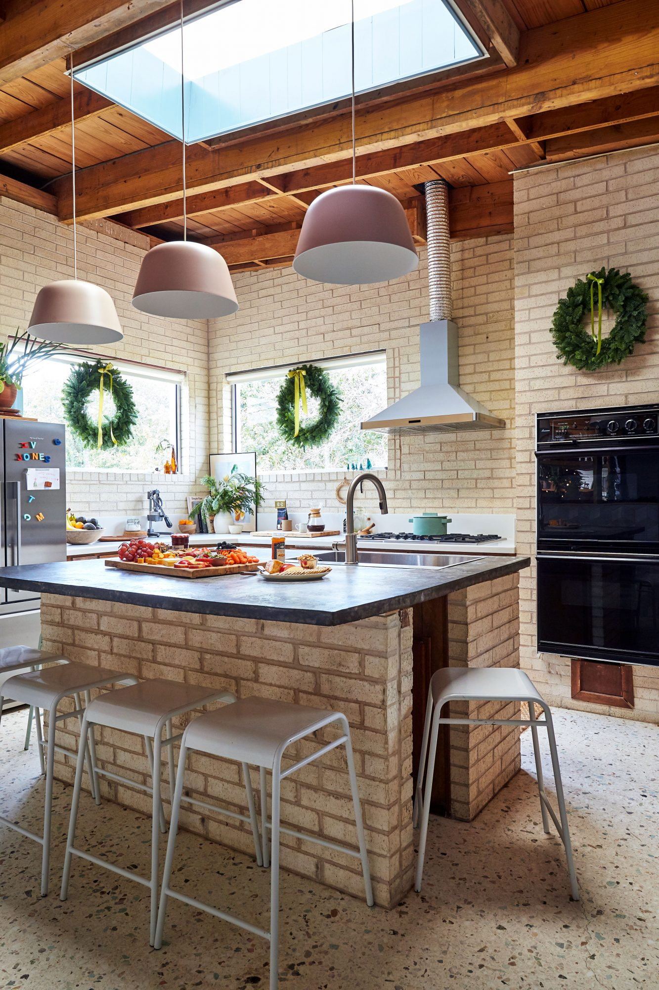 Sara and Billy Jack Brawner's Waco, TX Home at Christmas Kitchen