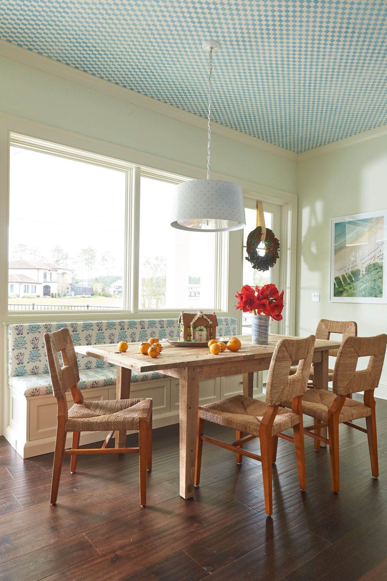 Andrew Howard Home Decorated for Christmas Breakfast Nook