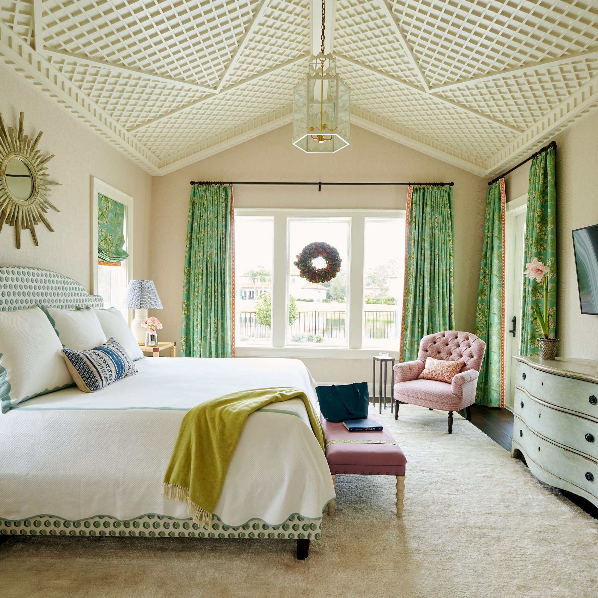Andrew Howard Home Decorated for Christmas Master Bedroom